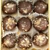 """Пастильные конфекты в темном шоколаде """"Атласная бирюзовая"""""""